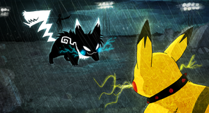 Vengechu vs Rocketchu by Skeleion