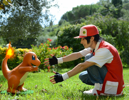 Red and Charmander 2 by GIOVANNIMICARELLI