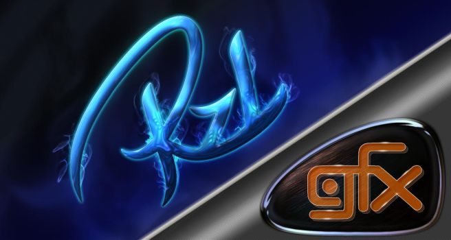 Wallpaper logo rzl-gfx by rzl-gfx
