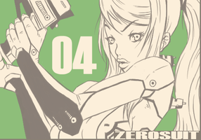 Taisen series -Zero suit 04 by Hearteclipse