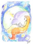 Sun Girl and Moon by AmeliaDDraws