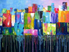 Rainbow City by paintintheneck