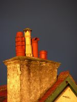 A stack of Chimney pots by MODDEYDOO