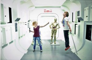London Film Museum  Me and Vesta on StarWars stand by andrewhitc