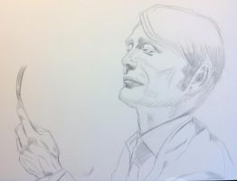 Hannibal outline for painting by SheenaBeresford