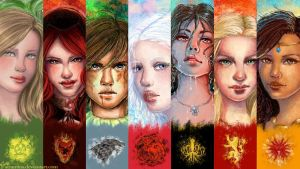 Girls of thrones wallpaper by Atramina