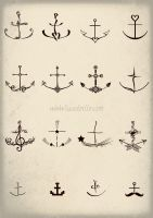 Anchor Tattoos - Set TWO by SabineSusanne
