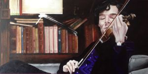 Sherlock and Violin #1 by SheenaBeresford
