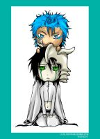 Grimmjow and Ulquiorra SD by MMtheMayo