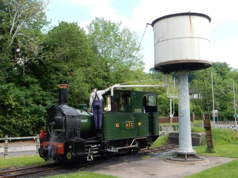 Countess at Welshpool Raven Sq Water Tower by rlkitterman