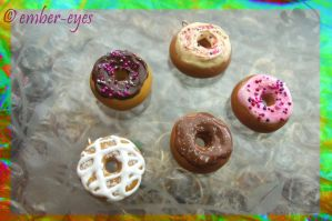Frosted Donut Charms by Ember-Eyes