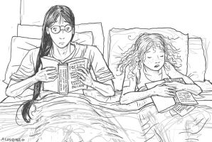 Reading In Bed 2 by angelac