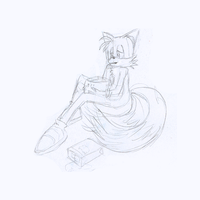 Tails drinking melon with wine by GaussianCat