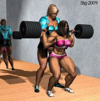 Lyn and Kara Lifting 2 by GRISSSE