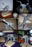 Anthro Trimonodon Sculpt WIP2 by BlackHoleInAJar
