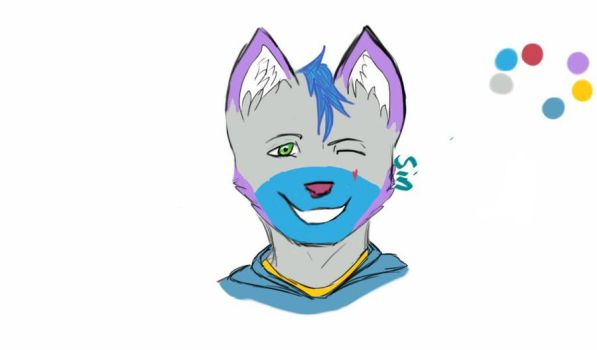 Tried drawing my fursona in a different position by SinLikesToDraw