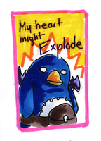Valentine Card: Prinny by HappehCakes