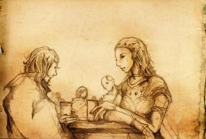 A little chat with Jaheira by Lingering-Song