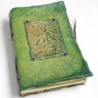 Green Jester Diary by gildbookbinders