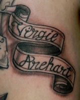 Jordan's Banner Tatto by Sirius-Tattoo