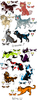 Canine/Feline Batch OPEN by DemoniaTheGuardian