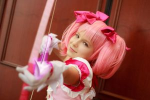 Madoka Kaname Shooting Arrow Cosplay Ikkicon VIII by firecloak