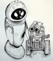 Wall-E and Eve Toys by Plumbeck