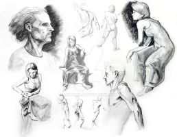 Some Life Drawing by ikitaina