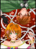 :Sakura+Syaoran:colored by Crissey