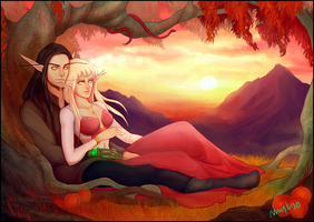 Leale and Alester by myks0