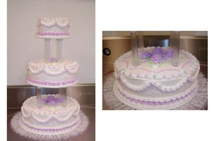 Lavender Wedding Cake by ayarel