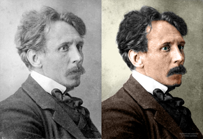 Old photo restoration of M. K. Ciurlionis by fantoNN