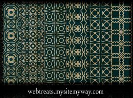 Ornate Royal Green Patterns by WebTreatsETC