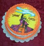 Naruto Rasenganshuriken Painted Cake by Bluesoul1