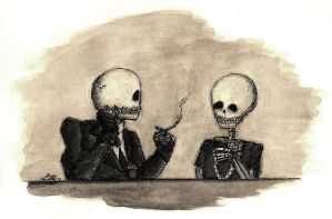 Mr. and Mrs. Bones by LookAliveZombie