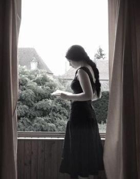 At the window... by Melisende-FairyKiss