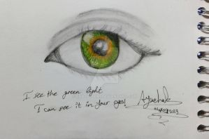 Green light in your eyes. by crazy4demi