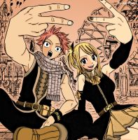 Natsu and Lucy FT 134 by LynetteNS
