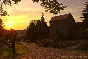 Sunset over the Nicolai Cemetery II by Losiane