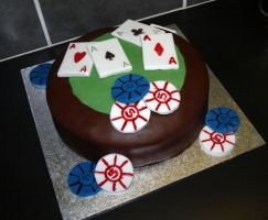 Poker Table Cake by sparks1992