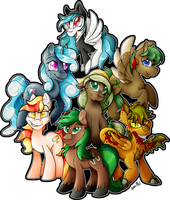 MLP: Commission: Jaegerpony Crew by Mychelle