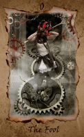Steampunk Fool Card Tarot by silvergypsie