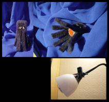 Minecraft Squid needlefelt by Akki14