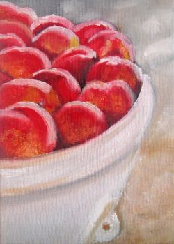 Harvest Apples - Oil Painting by crucifiedcondios