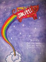 skittles nyan cat by poisonrose425