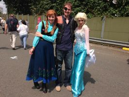 The Governor and Elsa and Anna Cosplay by Spider-Matt