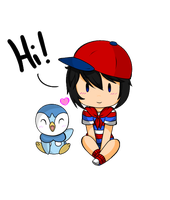 Ninten and Piplup~ by AlissaLuvsU