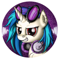 Vinyl Scratch badge by Neko-me