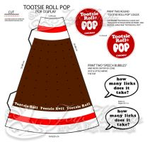 POP Display Graphics - Tootise Roll Pops by TheFlyinFerret