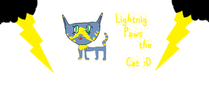 Lightning paws the cat by hannadawn